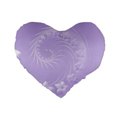 Light Violet Abstract Flowers 16  Premium Heart Shape Cushion  by BestCustomGiftsForYou