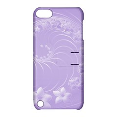 Light Violet Abstract Flowers Apple Ipod Touch 5 Hardshell Case With Stand by BestCustomGiftsForYou
