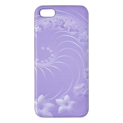 Light Violet Abstract Flowers Iphone 5 Premium Hardshell Case by BestCustomGiftsForYou