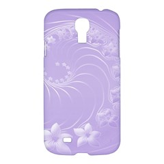 Light Violet Abstract Flowers Samsung Galaxy S4 I9500 Hardshell Case by BestCustomGiftsForYou