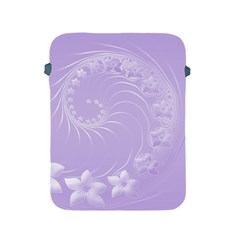 Light Violet Abstract Flowers Apple Ipad 2/3/4 Protective Soft Case by BestCustomGiftsForYou