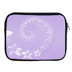 Light Violet Abstract Flowers Apple Ipad 2/3/4 Zipper Case by BestCustomGiftsForYou