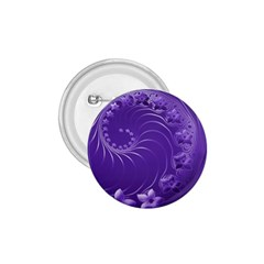Violet Abstract Flowers 1 75  Button