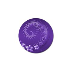 Violet Abstract Flowers Golf Ball Marker 4 Pack by BestCustomGiftsForYou