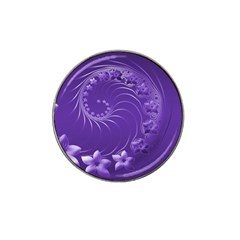 Violet Abstract Flowers Golf Ball Marker (for Hat Clip)