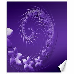 Violet Abstract Flowers Canvas 20  X 24  (unframed)