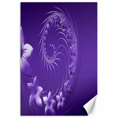 Violet Abstract Flowers Canvas 20  X 30  (unframed) by BestCustomGiftsForYou