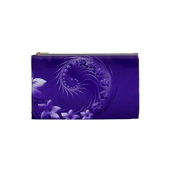 Violet Abstract Flowers Cosmetic Bag (small) by BestCustomGiftsForYou