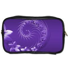 Violet Abstract Flowers Travel Toiletry Bag (one Side) by BestCustomGiftsForYou