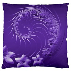 Violet Abstract Flowers Large Cushion Case (one Side) by BestCustomGiftsForYou