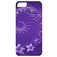 Violet Abstract Flowers Apple Iphone 5 Classic Hardshell Case by BestCustomGiftsForYou