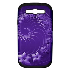 Violet Abstract Flowers Samsung Galaxy S Iii Hardshell Case (pc+silicone) by BestCustomGiftsForYou