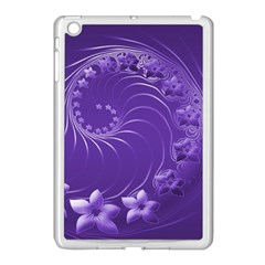 Violet Abstract Flowers Apple Ipad Mini Case (white) by BestCustomGiftsForYou