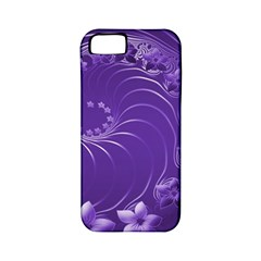 Violet Abstract Flowers Apple Iphone 5 Classic Hardshell Case (pc+silicone) by BestCustomGiftsForYou