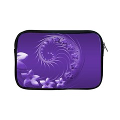 Violet Abstract Flowers Apple Ipad Mini Zipper Case by BestCustomGiftsForYou