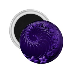 Dark Violet Abstract Flowers 2 25  Button Magnet by BestCustomGiftsForYou