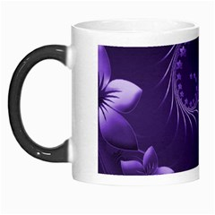 Dark Violet Abstract Flowers Morph Mug by BestCustomGiftsForYou