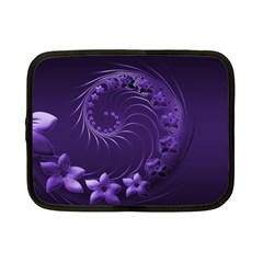 Dark Violet Abstract Flowers Netbook Case (small) by BestCustomGiftsForYou