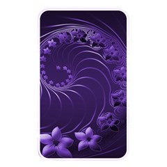 Dark Violet Abstract Flowers Memory Card Reader (rectangular) by BestCustomGiftsForYou