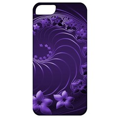 Dark Violet Abstract Flowers Apple Iphone 5 Classic Hardshell Case by BestCustomGiftsForYou