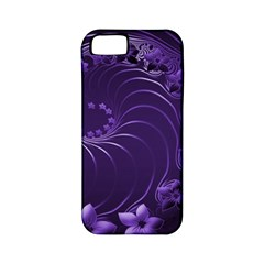 Dark Violet Abstract Flowers Apple Iphone 5 Classic Hardshell Case (pc+silicone) by BestCustomGiftsForYou