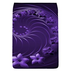 Dark Violet Abstract Flowers Removable Flap Cover (small) by BestCustomGiftsForYou