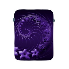 Dark Violet Abstract Flowers Apple Ipad 2/3/4 Protective Soft Case by BestCustomGiftsForYou