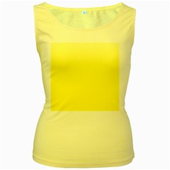 Cream To Cadmium Yellow Gradient Womens  Tank Top (yellow) by BestCustomGiftsForYou