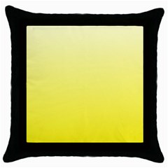 Cream To Cadmium Yellow Gradient Black Throw Pillow Case by BestCustomGiftsForYou