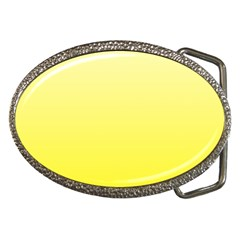 Cream To Cadmium Yellow Gradient Belt Buckle (oval) by BestCustomGiftsForYou