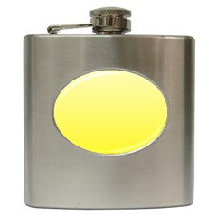 Cream To Cadmium Yellow Gradient Hip Flask by BestCustomGiftsForYou