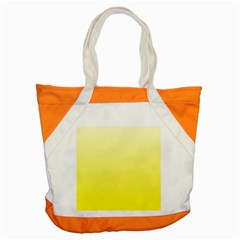 Cream To Cadmium Yellow Gradient Accent Tote Bag by BestCustomGiftsForYou