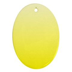 Cream To Cadmium Yellow Gradient Oval Ornament (two Sides) by BestCustomGiftsForYou