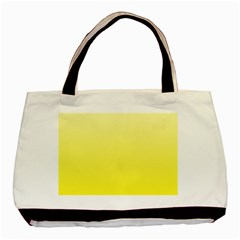 Cream To Cadmium Yellow Gradient Twin Sided Black Tote Bag by BestCustomGiftsForYou