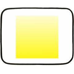 Cream To Cadmium Yellow Gradient Mini Fleece Blanket (two Sided)