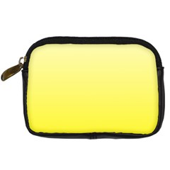 Cream To Cadmium Yellow Gradient Digital Camera Leather Case by BestCustomGiftsForYou