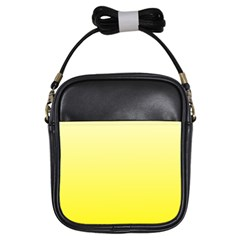 Cream To Cadmium Yellow Gradient Girl s Sling Bag by BestCustomGiftsForYou