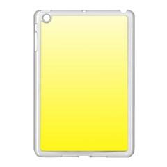 Cream To Cadmium Yellow Gradient Apple Ipad Mini Case (white) by BestCustomGiftsForYou