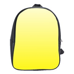 Cream To Cadmium Yellow Gradient School Bag (xl)