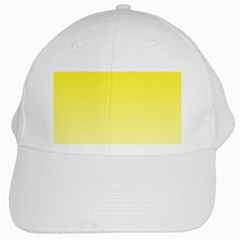 Cadmium Yellow To Cream Gradient White Baseball Cap by BestCustomGiftsForYou