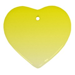 Cadmium Yellow To Cream Gradient Heart Ornament by BestCustomGiftsForYou