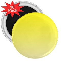 Cadmium Yellow To Cream Gradient 3  Button Magnet (10 Pack)