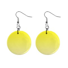 Cadmium Yellow To Cream Gradient Mini Button Earrings by BestCustomGiftsForYou