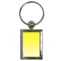 Cadmium Yellow To Cream Gradient Key Chain (rectangle) by BestCustomGiftsForYou