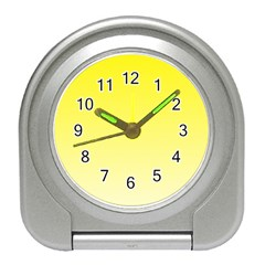 Cadmium Yellow To Cream Gradient Desk Alarm Clock by BestCustomGiftsForYou