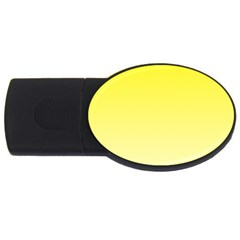 Cadmium Yellow To Cream Gradient 4gb Usb Flash Drive (oval) by BestCustomGiftsForYou