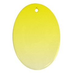 Cadmium Yellow To Cream Gradient Oval Ornament (two Sides) by BestCustomGiftsForYou