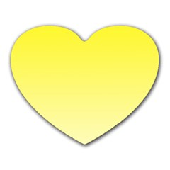 Cadmium Yellow To Cream Gradient Mouse Pad (heart) by BestCustomGiftsForYou