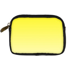 Cadmium Yellow To Cream Gradient Digital Camera Leather Case by BestCustomGiftsForYou