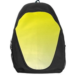 Cadmium Yellow To Cream Gradient Backpack Bag by BestCustomGiftsForYou